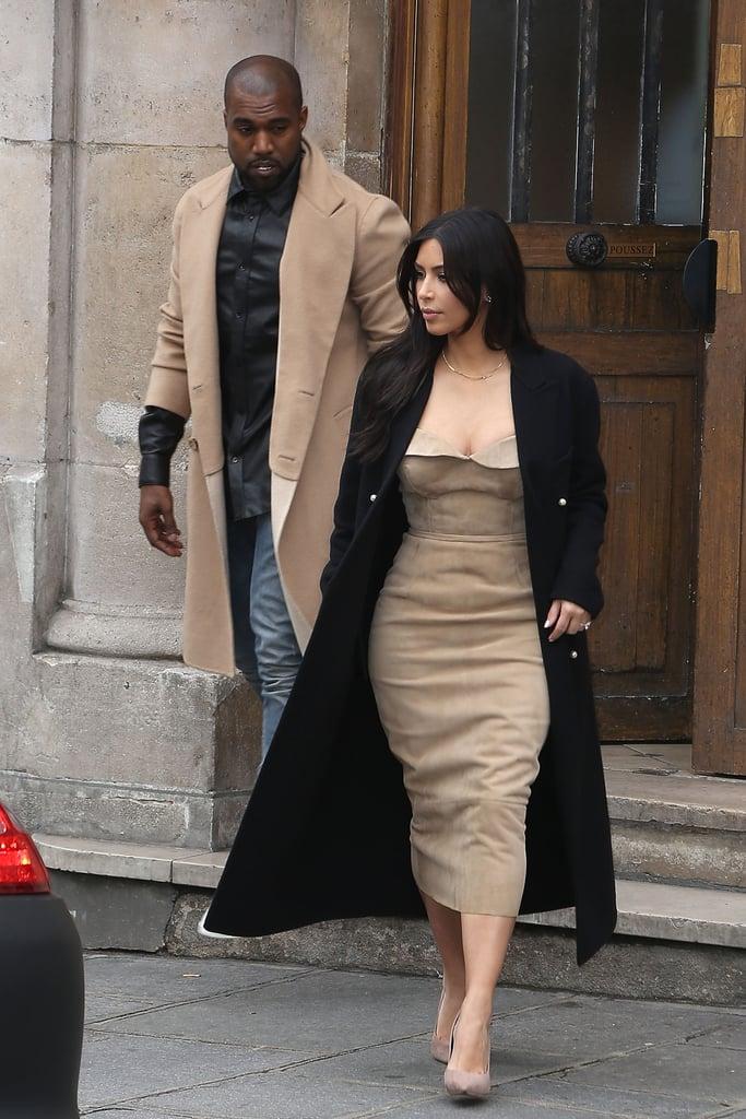 Kim Kardashian at the Maison Martin Margiela Showroom