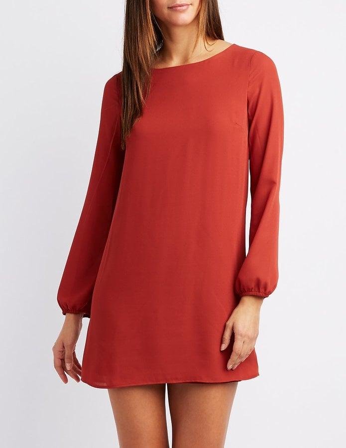 d84dc33075a8 Charlotte Russe Caged-Back Shift Dress   Best Red Dresses   POPSUGAR ...
