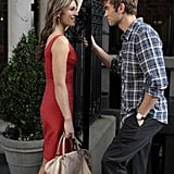 Elizabeth Hurley as Diana Payne and Chace Crawford as Nate Archibald on Gossip Girl.  Photo courtesy of The CW