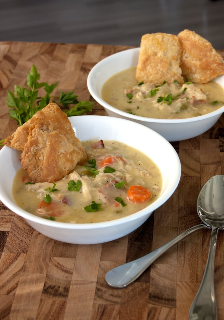 Chrissy Teigen's Chicken Pot Pie Soup
