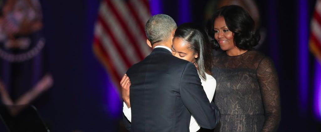 Michelle Obama Wearing Jason Wu Navy Dress