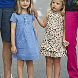 Princess Leonor and Infanta Sofía in 2011