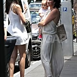Miranda Kerr and her mother, Therese Kerr, went to lunch with baby Flynn Bloom.