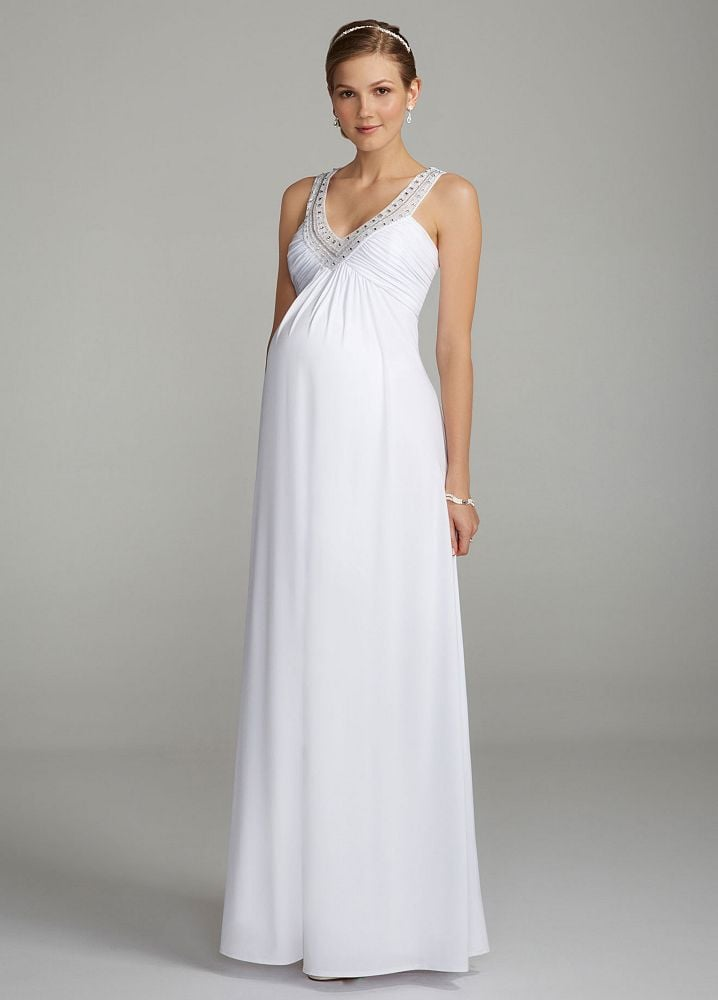 Affordable maternity wedding dresses popsugar moms for Pregnancy dress for wedding