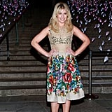 Ari Graynor wore a colorful frock.