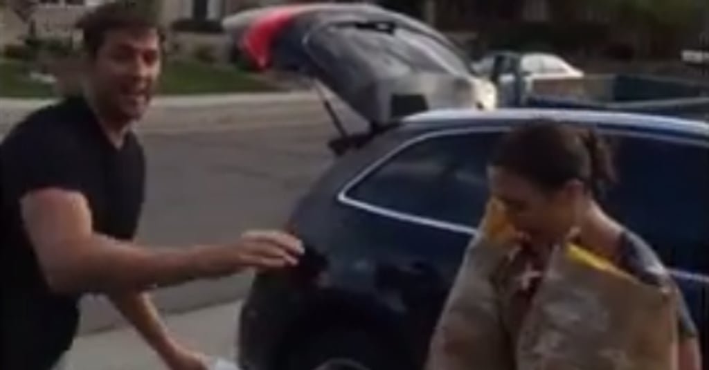 John Krasinski Blindsides Emily Blunt With a Bucket of Ice