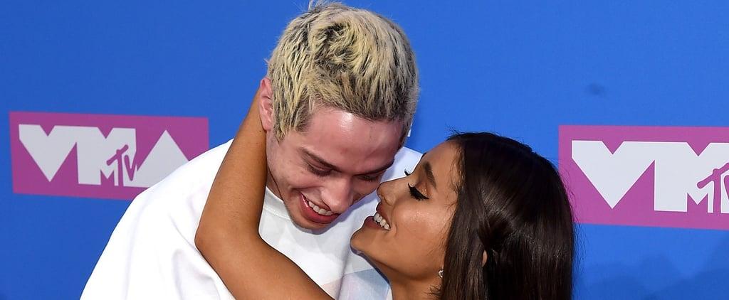 Ariana Grande and Pete Davidson at the 2018 MTV VMAs