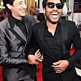 Meanwhile, Adrien Brody had Lenny Kravitz cracking up.