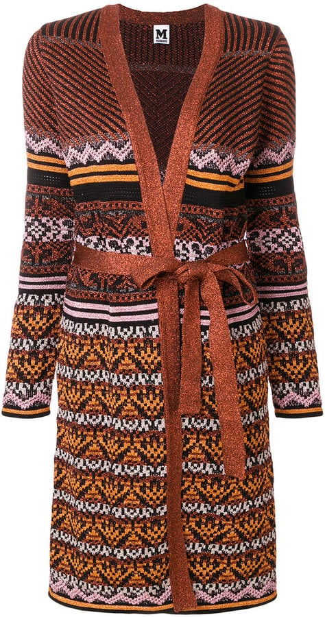 M Missoni Belted Long Cardigan