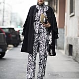 All you need to break up a print? A great solid coat.  Source: Le 21ème | Adam Katz Sinding