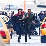 Benedict Cumberbatch Filming Doctor Strange Set Pictures