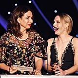 Pictured: Maya Rudolph and Kristen Bell
