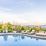 From its high vantage point, the home offers dramatic views of the San Fernando Valley city lights and San Gabriel Mountains.