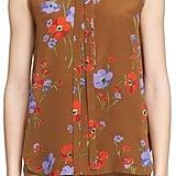 N°21 'Fleur' Tie Neck Sleeveless Shirt ($510)