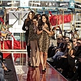 Kim, Khloe, and Kourtney Kardashian introduced the girls, who modeled the sisters' collection for Sears on the runway.  Photo courtesy of CW