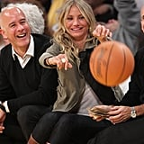 Pictures of Cameron Diaz at the Lakers Game in LA With Chace Crawford 2011-01-12 07:02:03