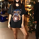 Kendall and Kylie Jenner Wearing T-Shirt Dresses