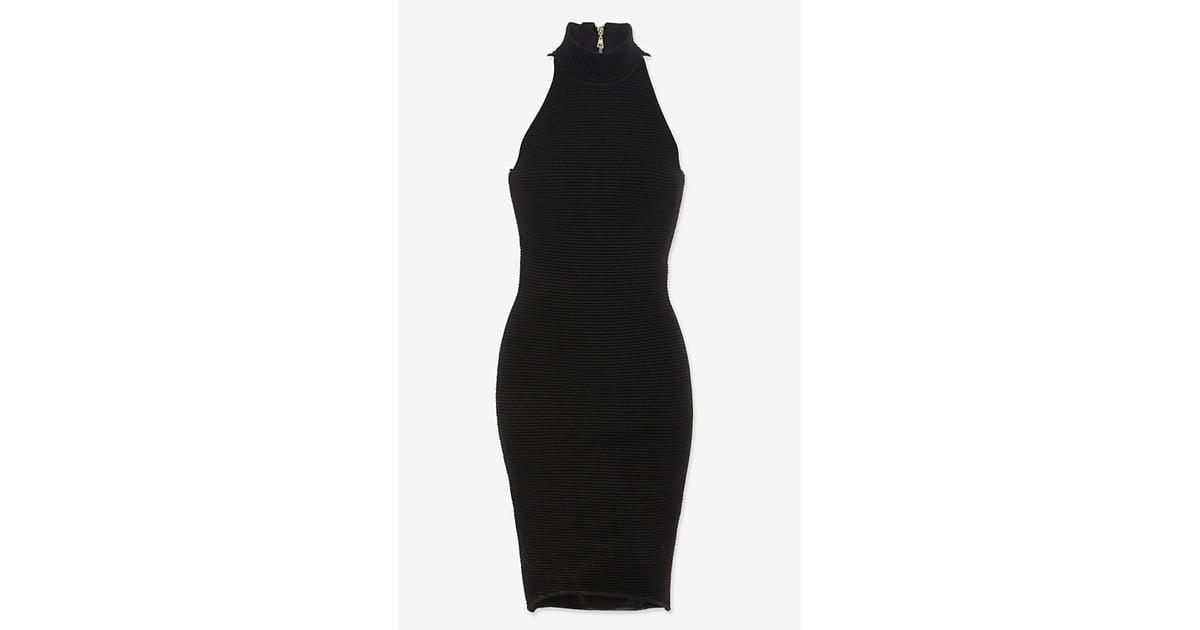 7cd067b954b5a Torn by Ronny Kobo Sleeveless Turtleneck Black Dress ( 99 ...
