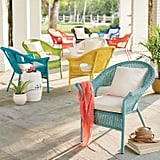 BrylaneHome Roma All-Weather Wicker Stacking Chair