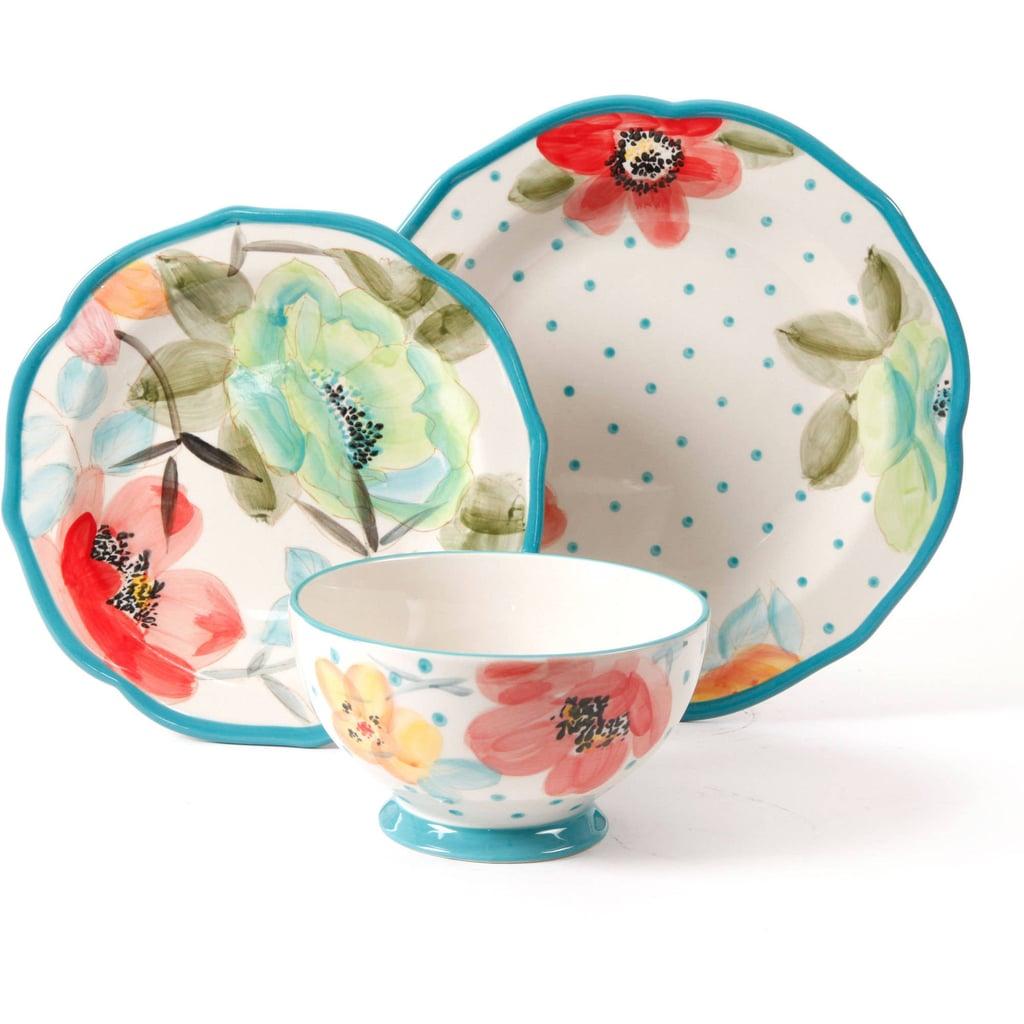Vintage Bloom 12-Piece Decorated Dinnerware Set