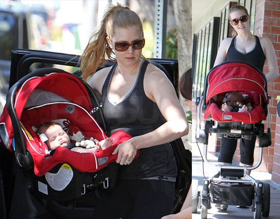 Pictures of Amy Adams and Aviana Sharing a Mommy and Me Workout