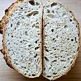No-Knead Easy, Whole Wheat(ish) Sourdough Bread