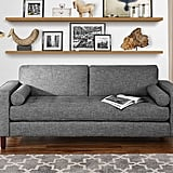 Modern Fabric Sofa With Tufted Linen
