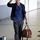 Photos of Kellan Lutz at the Airport