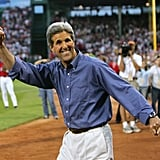 In July 2004, Democratic presidential nominee John Kerry was tapped to have first pitch honors.