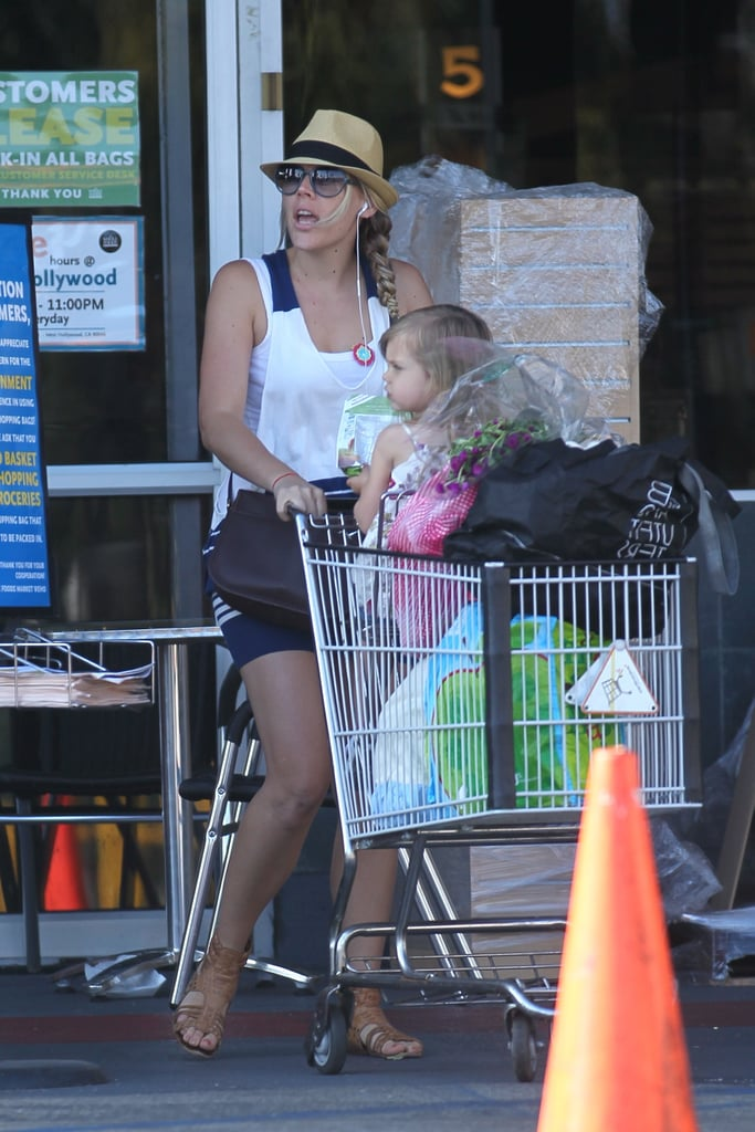 Busy Philipps and Birdie had a full cart from Whole Foods.