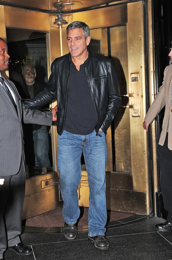 George Clooney Leaving Hotel in NYC Pictures | POPSUGAR ...