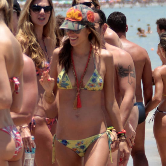 Alessandra Ambrosio Shows Baby Wearing Bikini Pictures