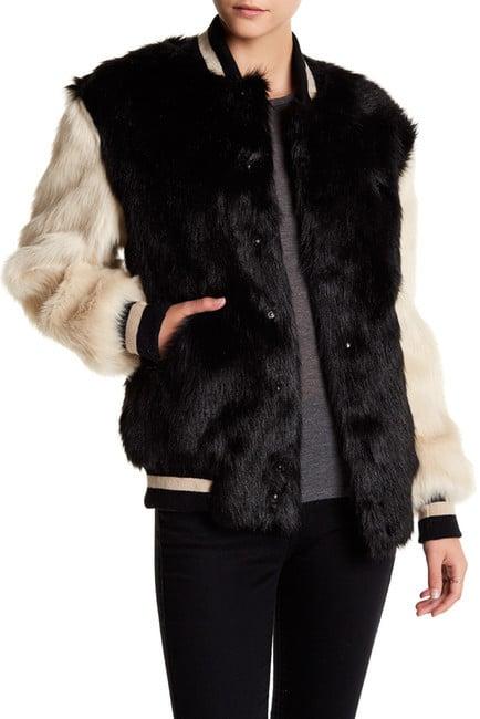 68a3c24f4f9e1 Opening Ceremony Faux Fur Varsity Jacket