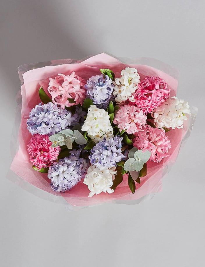 Marks & Spencer Hyacinth Gift Bag (£25) | Affordable Flower Bouquets ...