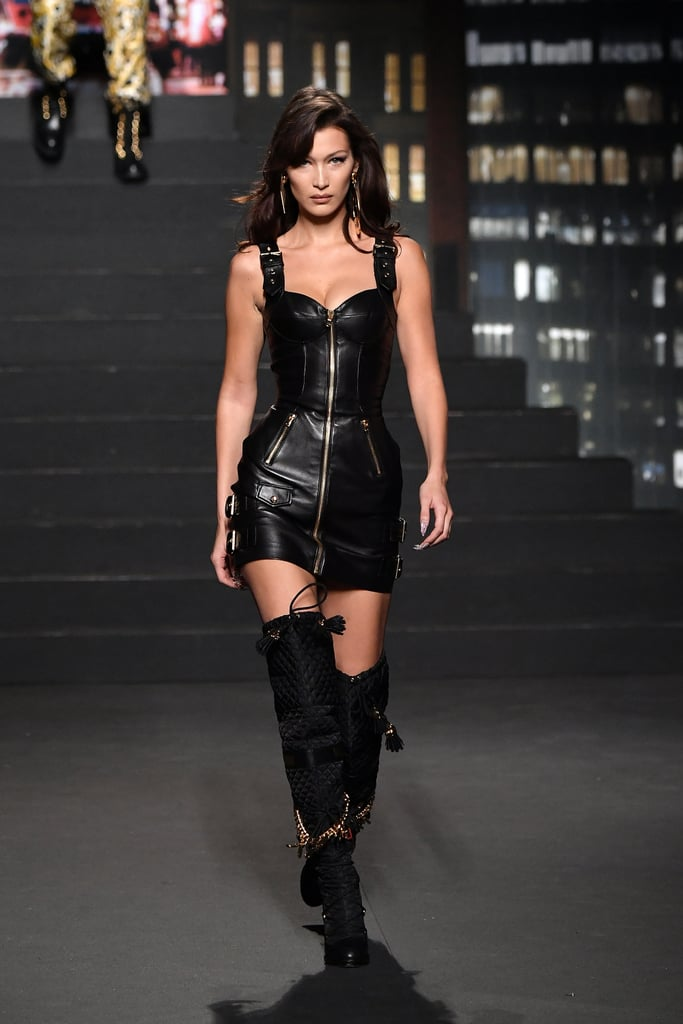 Bella Hadid Walking the Moschino x H&M Runway in NYC in October 2018