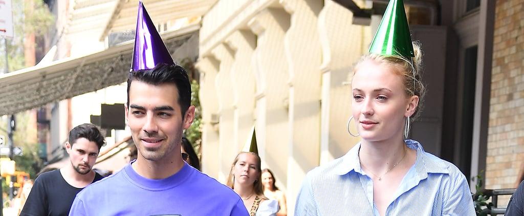 Joe Jonas and Sophie Turner Wearing Party Hats in NYC 2019