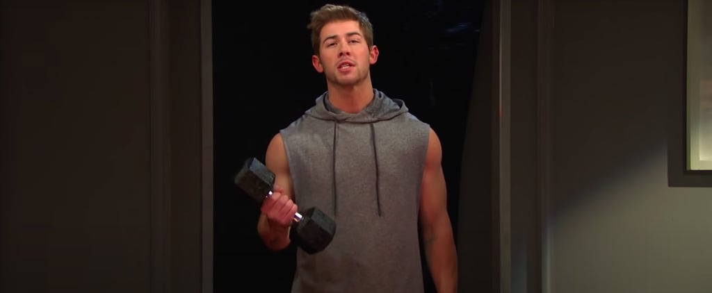 Watch SNL's Mirror Workout Skit With Nick Jonas | Video