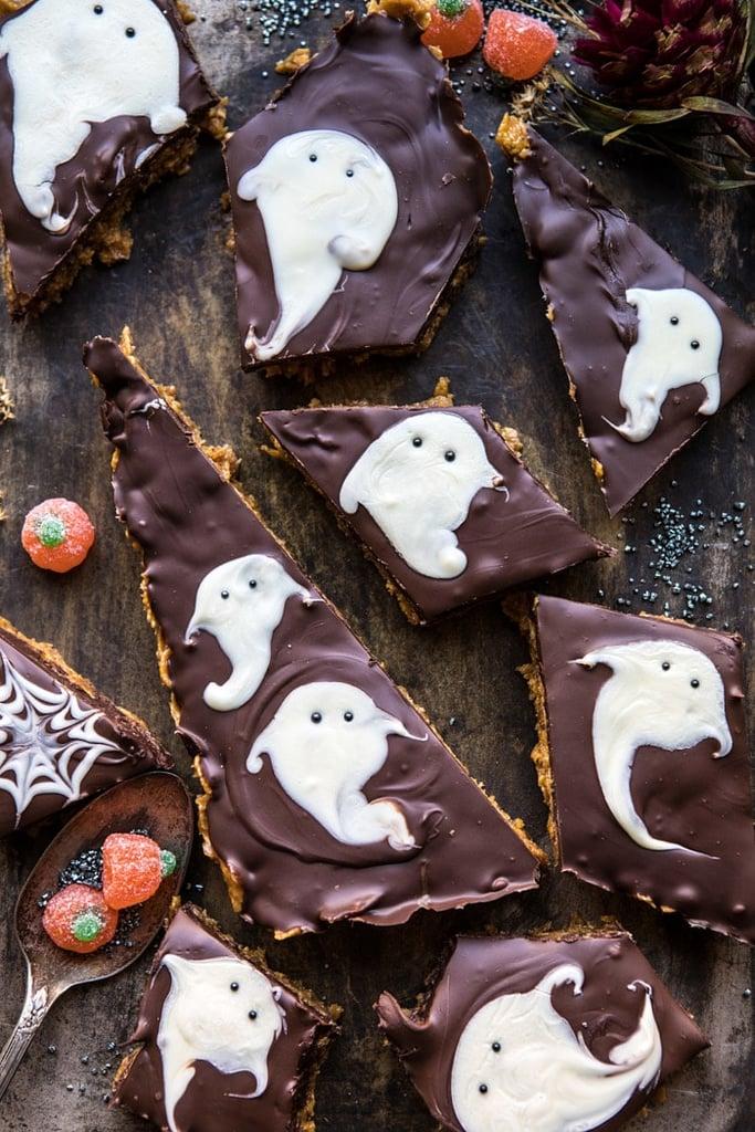 Boo! Chocolate Peanut Butter Bars