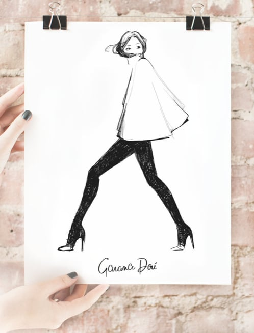 With the same Parisian charm as Garance Doré herself, who wouldn't want one of her chic little prints? I know I do. I've got my eye on this adorable My Cape ($40) illustration, perfect for my vanity table.