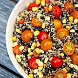 Quinoa, black bean, corn, and tomato salad — 309 calories