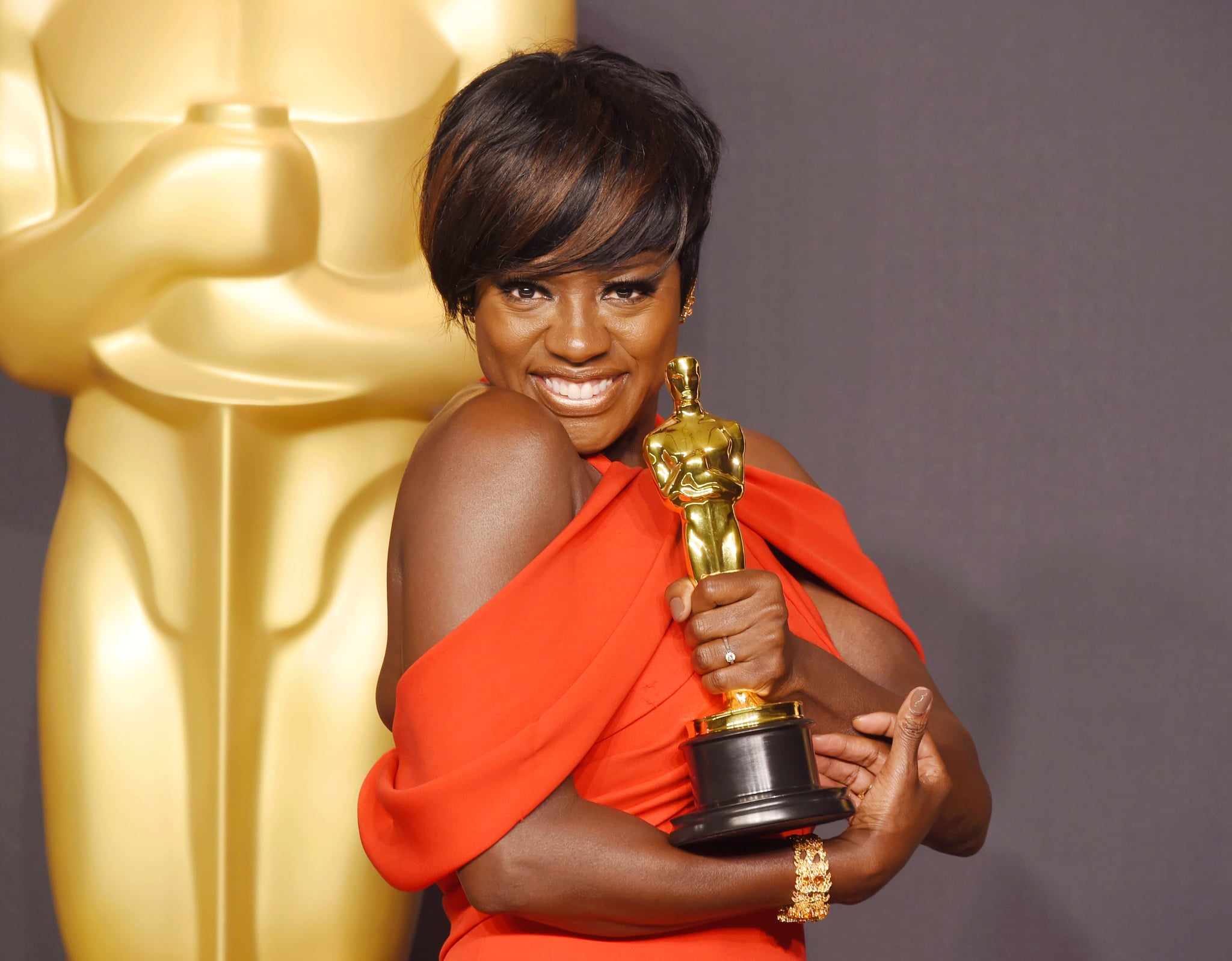HOLLYWOOD, CA - FEBRUARY 26: Actress Viola Davis, winner of the award for Actress in a Supporting Role for 'Fences,' poses in the press room during the 89th Annual Academy Awards at Hollywood & Highland Center on February 26, 2017 in Hollywood, California. (Photo by Jeffrey Mayer/WireImage)