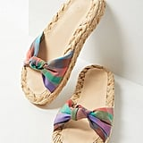 UO Willow Knotted Raffia Sandals