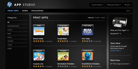Daily Tech: HP Launches Its Printer App Studio