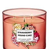 Bath & Body Works Strawberry Pound Cake 3-Wick Candle