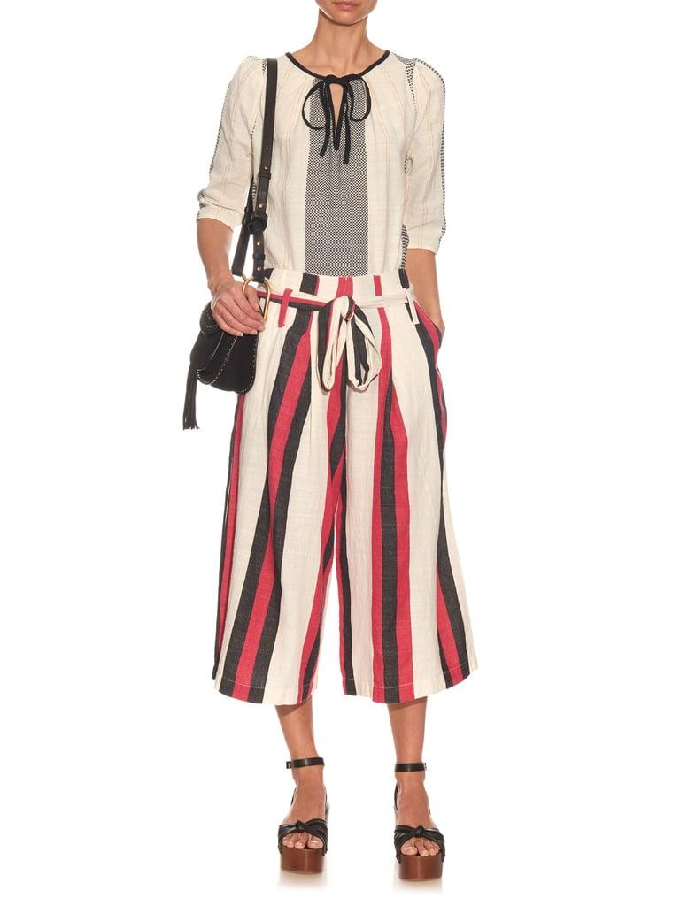 Ace&Jig Baltic striped cotton culottes ($255)
