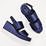 Zara's Satin Strappy Wedges ($50) are luxe-looking and bold.