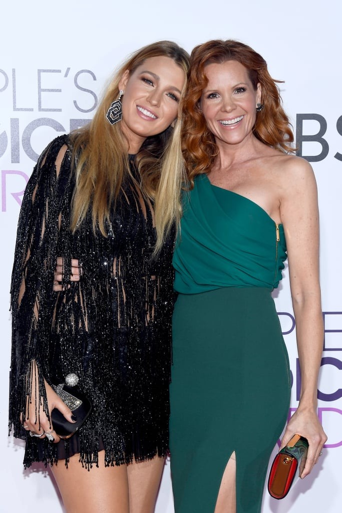 "Blake Lively was in good company at the People's Choice Awards in LA on Thursday. The actress glowed in a black mini-dress and was joined by her older sister, Robyn, who's famously known for her role in the 1989 classic film Teen Witch. The sisters played up their sweet chemistry on the red carpet as they hugged and shared a few laughs for the cameras. Just before her arrival, Blake posted an Instagram snap of herself getting ready and thanked her glam team for ""making me look like I slept more than 2 hours last night."" Perhaps Ryan Reynolds stayed home with their daughters, Ines and James?      Related:                                                                                                           The People's Choice Awards Red Carpet Packs Enough Style For the Rest of the Week"