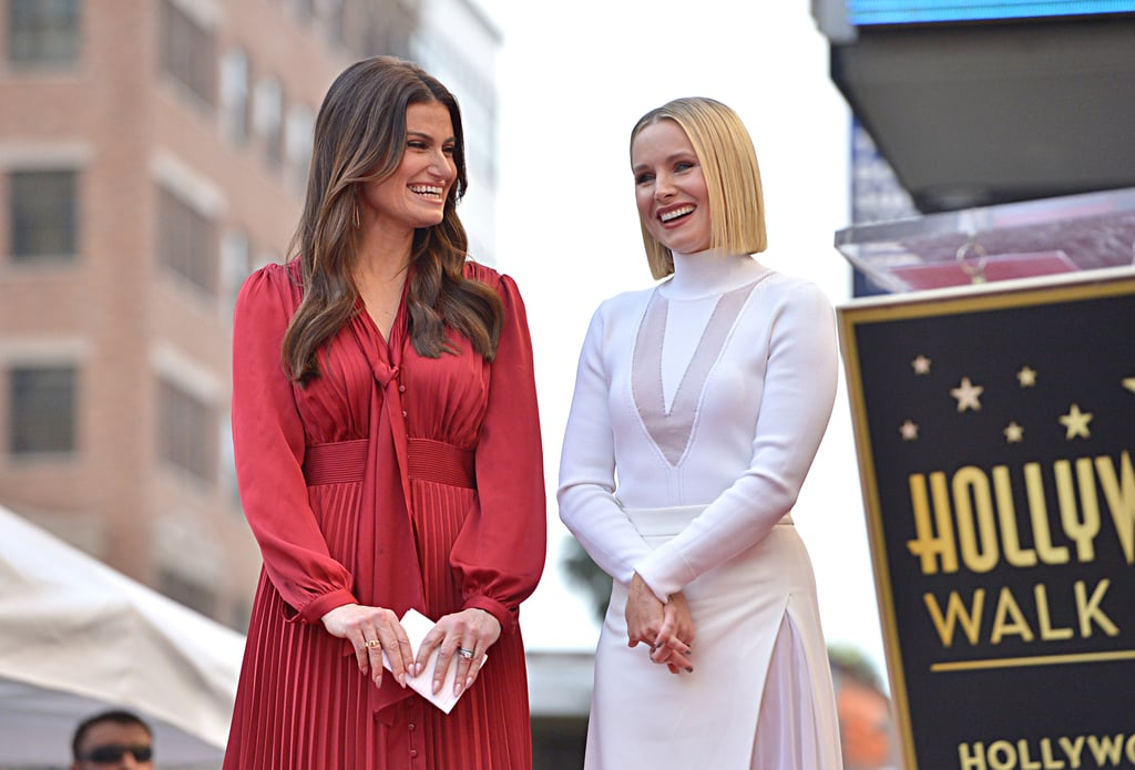 Idina Menzel and Kristen Bell took a break from ruling Arendelle as they attended their joint Hollywood Walk of Fame ceremony on Tuesday. The Frozen costars, who play sisters Elsa and Anna in the Disney films, looked very festive as they supported each other for the big event. GLOW actress Jackie Tohn said a few words about her long-time friend Kristen, while their fellow Frozen costar Josh Gad brought the laughs during his funny speech about Idina.  Both Idina and Kristen have had incredible careers thus far. Idina is best known for her roles in Broadway's Rent and Wicked (the latter of which earned her a Tony), as well as her recurring role as Shelby Corcoran on Glee. Meanwhile, Kristen is best known for her roles on Veronica Mars and The Good Place, as well as countless comedy films like Forgetting Sarah Marshall and Bad Moms. See more photos from their joint appearance ahead.       Related:                                                                                                           Kacey Musgraves, Weezer, and More Stars Lend Their Voices For Frozen 2's Chilling Soundtrack