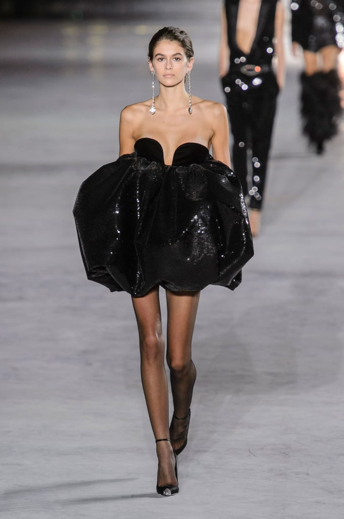 Kaia's Second Look Stole the Show: a Sequined Pouf of a Dress