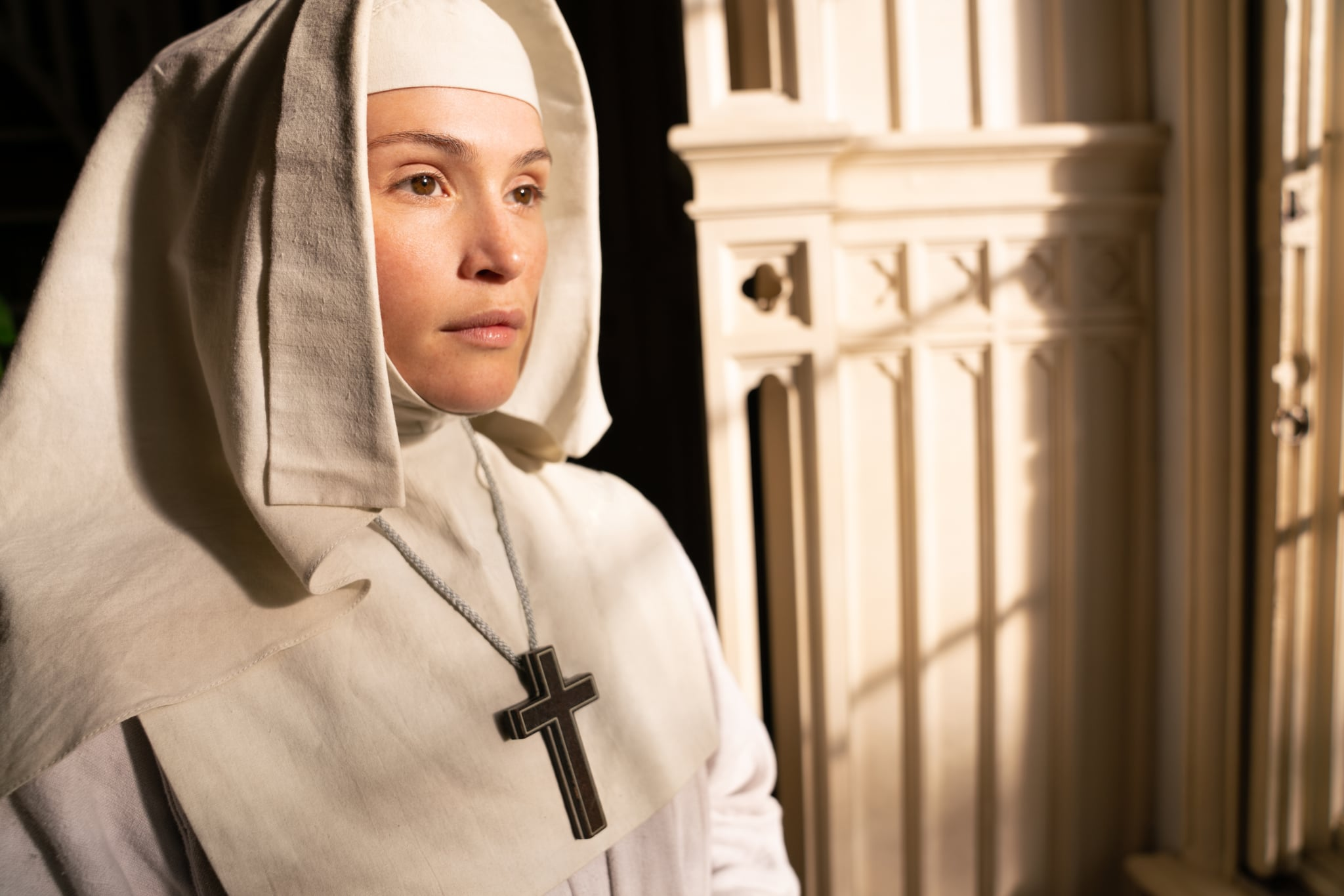 WARNING: Embargoed for publication until 00:00:01 on 05/12/2020 - Programme Name: Black Narcissus - TX: 27/12/2020 - Episode: Black Narcissus - Ep 1 (No. n/a) - Picture Shows:  Sister Clodagh (GEMMA ARTERTON) - (C) FX Productions - Photographer: Miya Mizuno